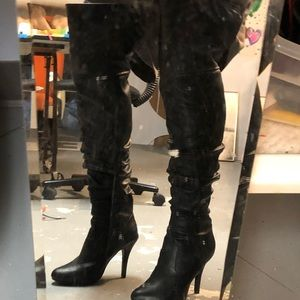 Forever 21 black over the knee boots